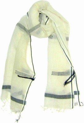 Dushaalaa Self Design Silk/Coton Women's Scarf