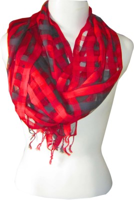 Dushaalaa Checkered Silk, Coton Women's Scarf