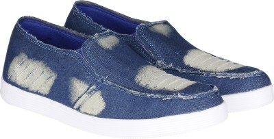 Kraasa Denim Cut Loafers(Blue)