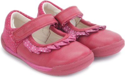 Clarks SoftlyStef Fst Berry Leather Casual Shoes(Pink)