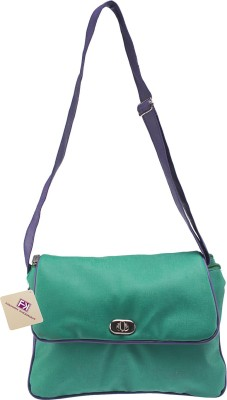Fashion Knockout Women Green PU Sling Bag