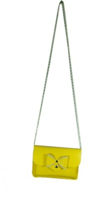 Essart Girls Casual Yellow PU Sling Bag