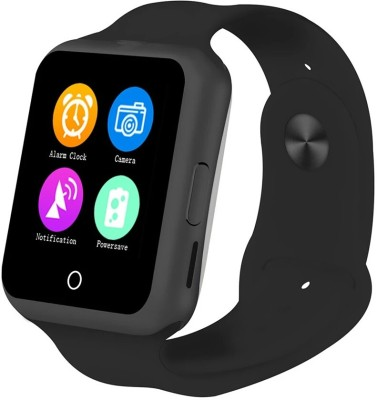 Flipfit Smart Watch for kids & adults also with Anti-lost, Bluetooth Android & Ios Connectivity, with sim & memory card supported, also with camera feature Black Smartwatch(Black Strap Large)