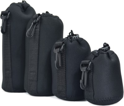 yantralay Pack Of 4 Thick Protective Neoprene Lens Case Pouch Set for DSLR Camera Lens Includes Small, Medium, Large & Extra Large Pouches Neoprene Splashproof Lens Case Pouch