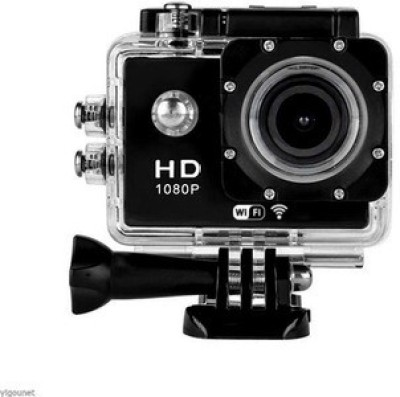 Generic Action Y8 Sports and Action Camera(Black 12 MP)