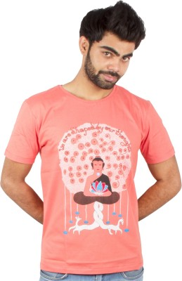 Pulpypapaya Printed Men's Round Neck T-Shirt