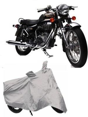 Accedre Two Wheeler Cover for Royal Enfield(Classic 500, Silver)