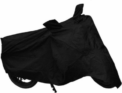 Quick N Easy Two Wheeler Cover for Hero(Glamour, Black)