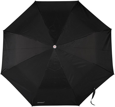 Bizarro Plain 3-Fold Heavy Quality Umbrella(Black)