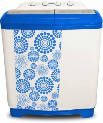 Mitashi 7.5 kg Semi Automatic Top Load Washing Machine White, Blue(MiSAWM75v10)