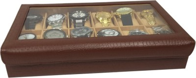 Essart Case 3 Watch Box(Brown, Holds 12 Watches)