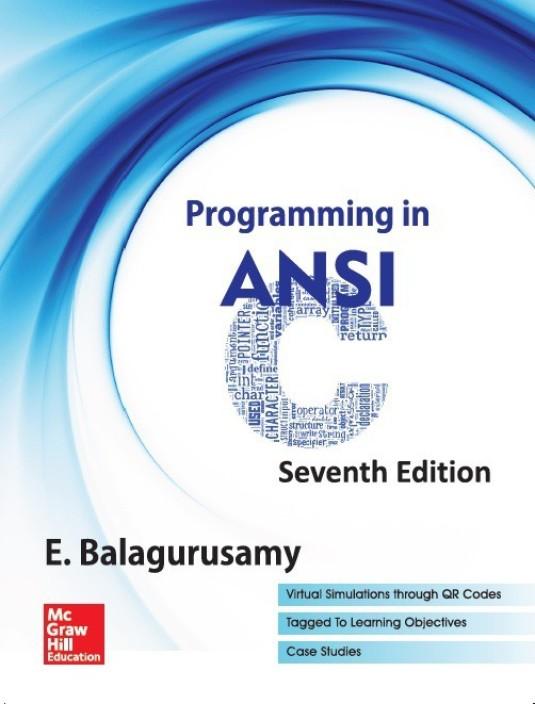 Programming in ansi c 4e by balaguruswamy pdf free download
