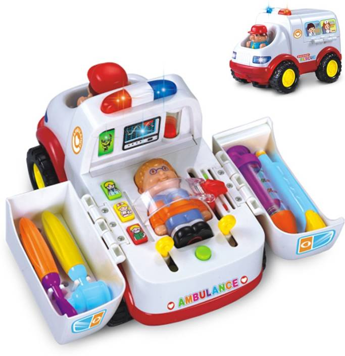 Kidsyantra Kids Doctors Kit With Ambulance Lights And Sounds Birthday Gift 4 7 Year Old ...