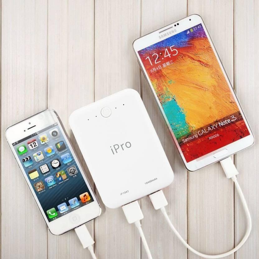 Flipkart: iPro IP1042 Powerbank 10400 mAh Power Bank @ Rs.599/- (78% OFF)