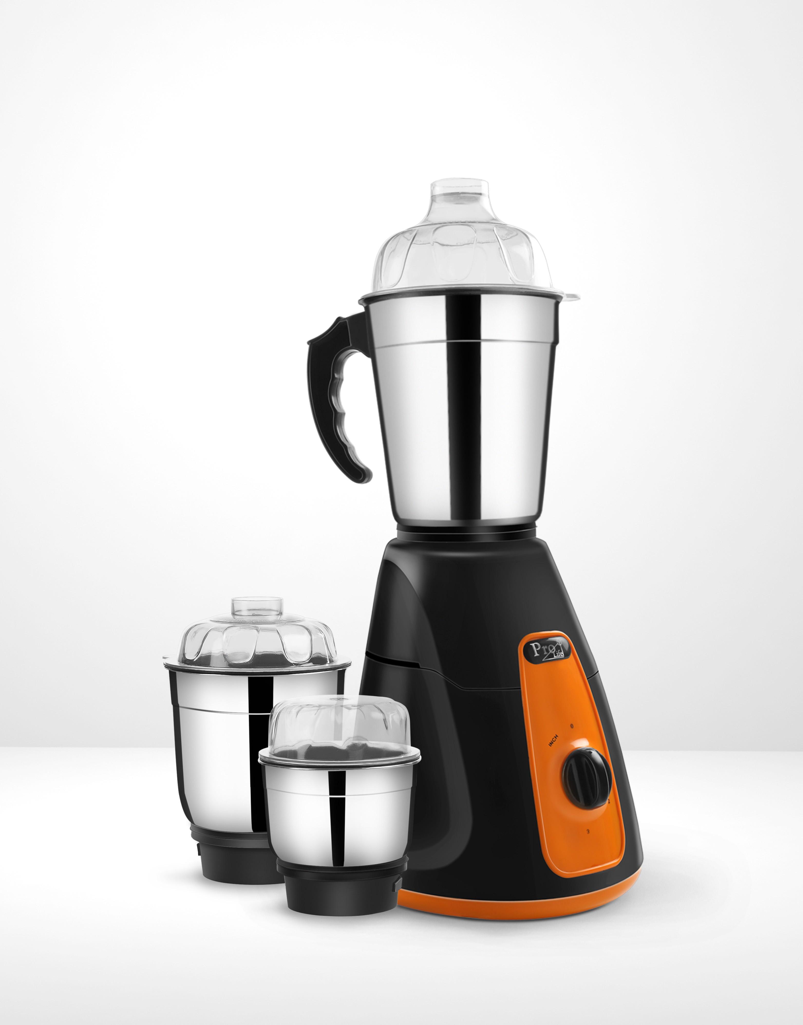 Prolife Jazz Pro 450 W Mixer Grinder(Black, Orange, 2 Jars)