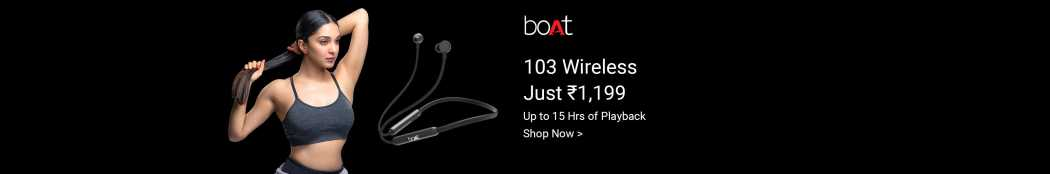 boAt 103 Wireless Bluetooth Headset  (Active Black, In the Ear)