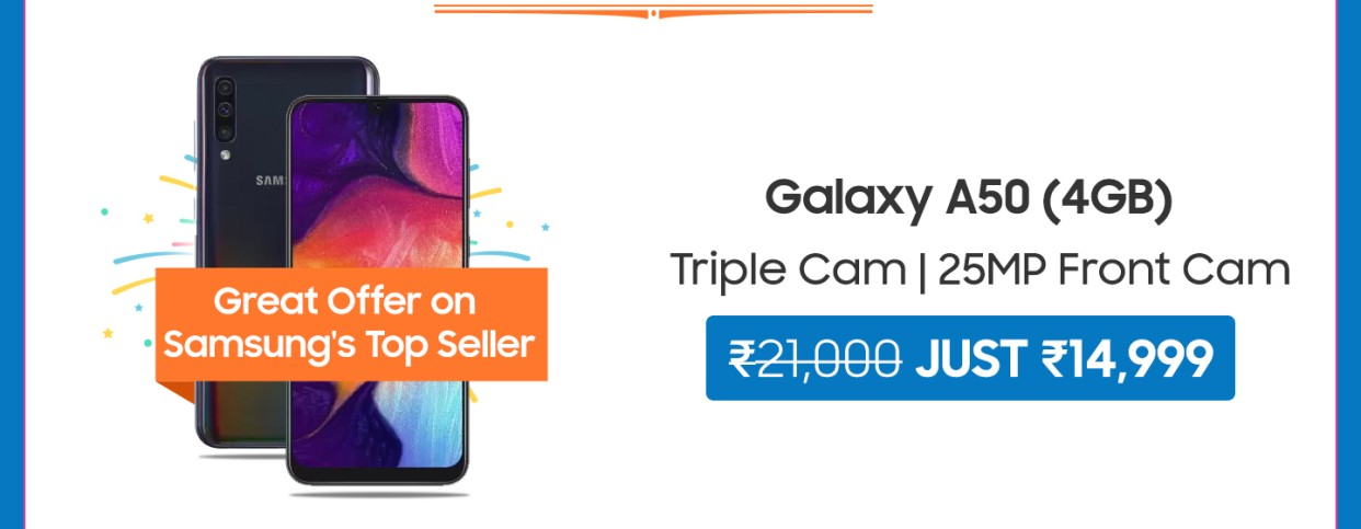 Flipkart Samsung Carnival- Upto 50% Off + 10% Cashback on HDFC Debit Cards