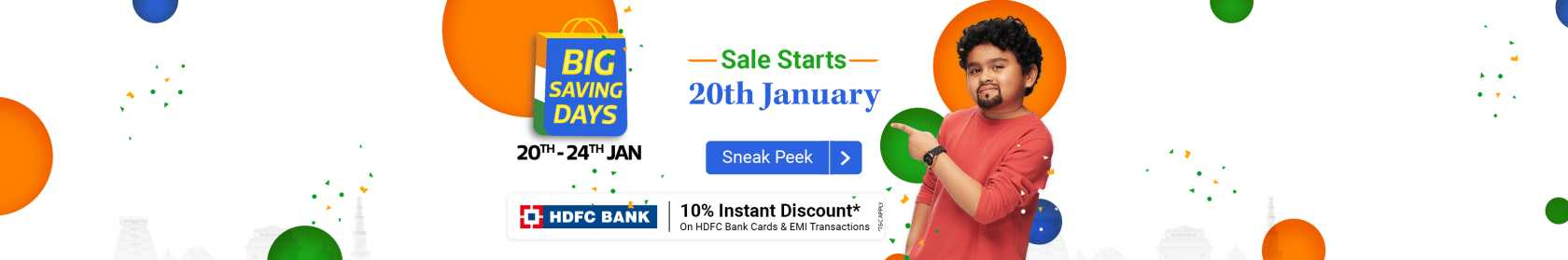 Flipkart - Big Saving Days 20th till 24th Jan 2021