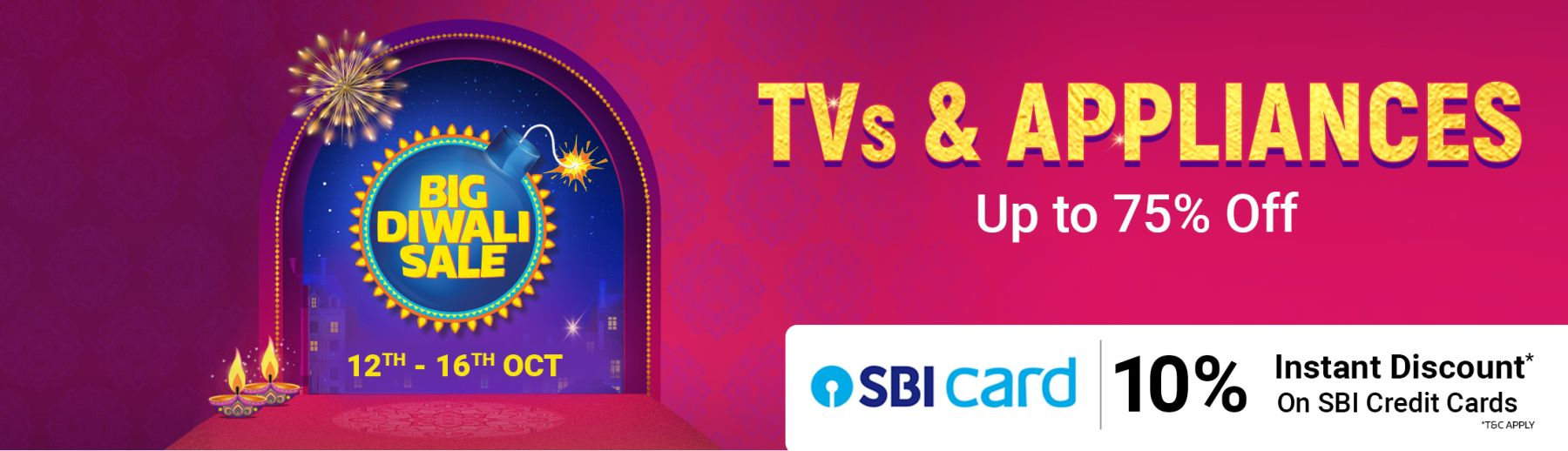 Flipkart-Big-Diwali-Sale-TvsAppliances-Upto-75OFF-2019