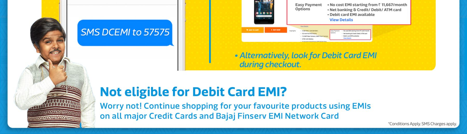 EMI on Debit Cards | Easy Installments on Debit Cards at Flipkart com