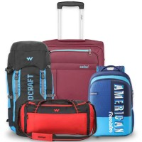 Min.50%+Extra5%Off Skybags, American Tourister... Backpacks, Trolleys, Wallets...