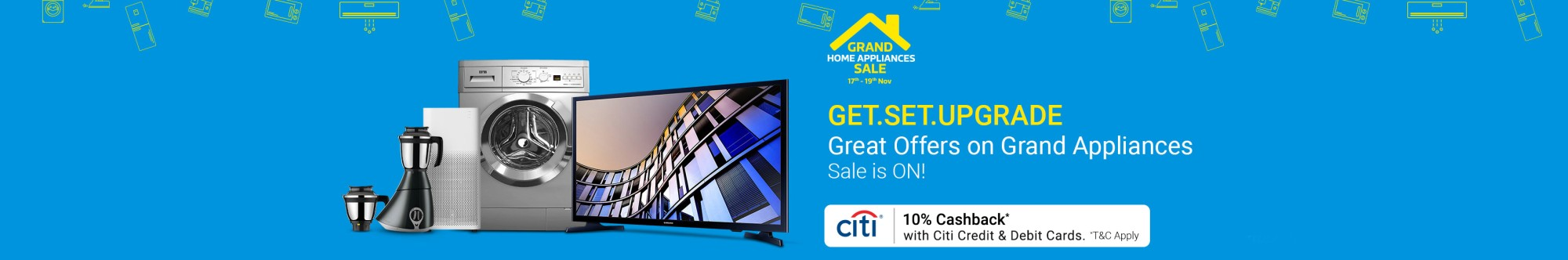 Flipkart Grand Home TVS and Home Appliances offer coupons