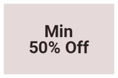 Min 50% Off