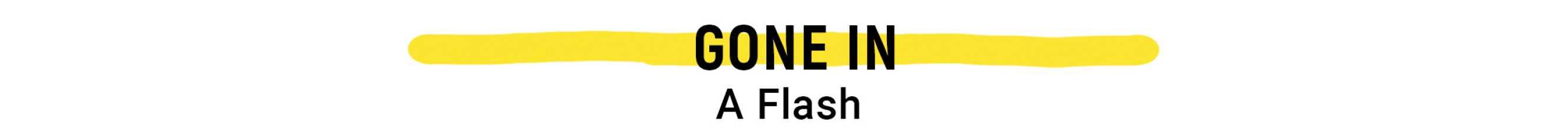 Gone in Flash