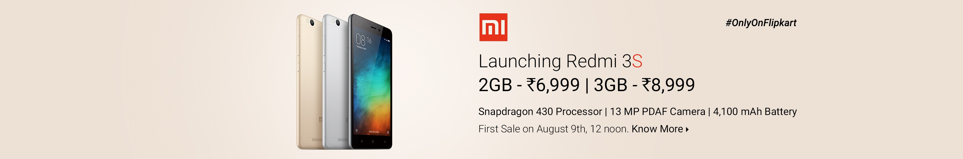 Redmi 3S launch on Flipkart key features specifications reviews coupons cashback offers promo codes discounts