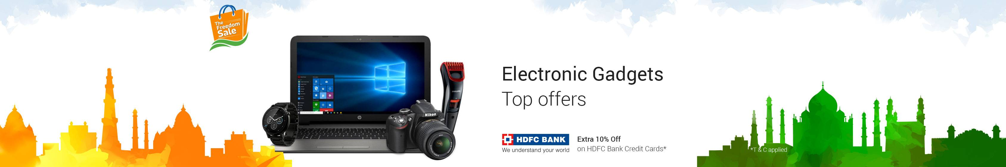 Top Offers on Electronic Gadgets Laptops, Cameras, DSLR