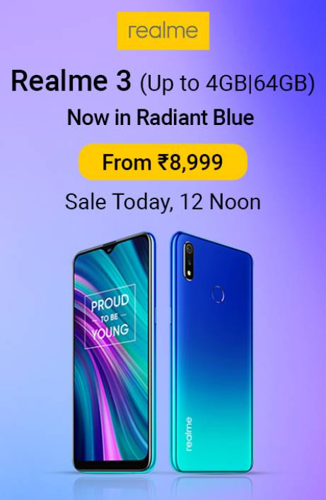 Realme 3 Sale today