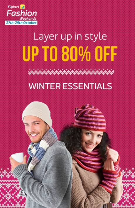 Flipkart Winter Essentials upto 80% off
