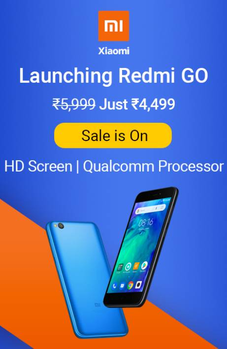 Redmi Go sale is on