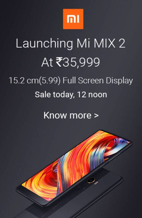 Mi Mix 2 sale today