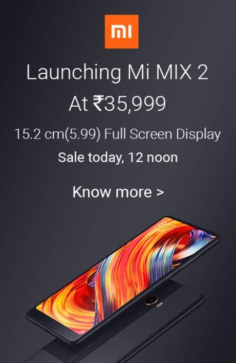 Mi Mix 2 sale today
