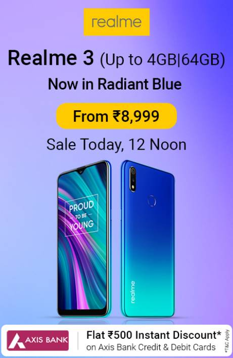 Realme 3 Sale today
