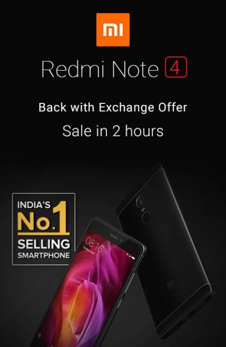 Redmi Sale 2Hrs Ecxh Offer RHS 28th July