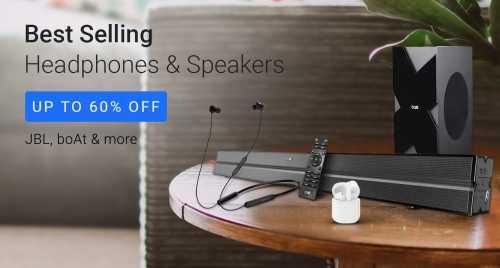 Flipkart Daily Deals & Discount Sale - Up to 60% discount on Headphones and Speakers