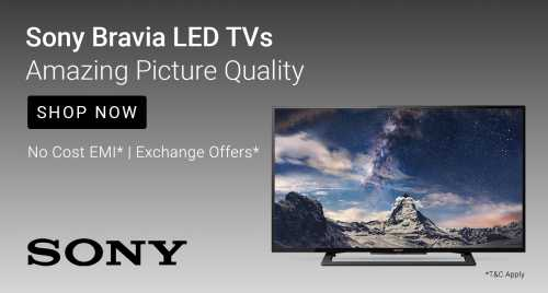 Flipkart Daily Deals & Discount Sale - Sony Televisions starting at just ₹12999