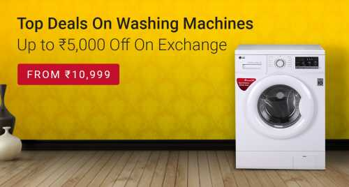 Flipkart Daily Deals & Discount Sale - Up To ₹5000 discount on Exchange on Washing Machines