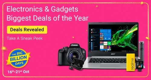 Flipkart Daily Deals & Discount Sale - Get Upto 80% OFF on Electronics and Accessories