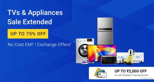 Flipkart Daily Deals & Discount Sale - Up To 75% Discount on TVs and Appliances