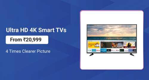 Flipkart Daily Deals & Discount Sale - Ultra HD 4K TV starting at just ₹21999