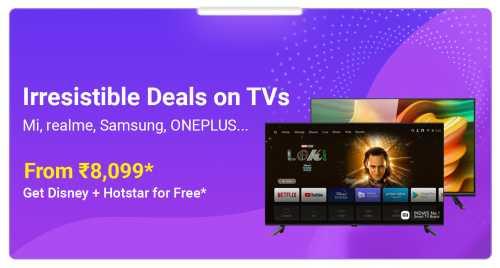 flipkart.com - TVs starting at just ₹8099