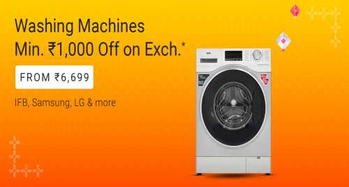 flipkart.com - Flat ₹1000 Off on Washing Machines
