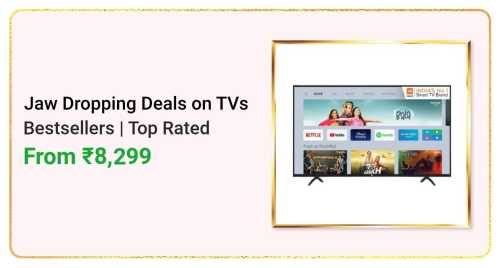 Flipkart Daily Deals & Discount Sale - Best Selling TVs starting at just ₹8299