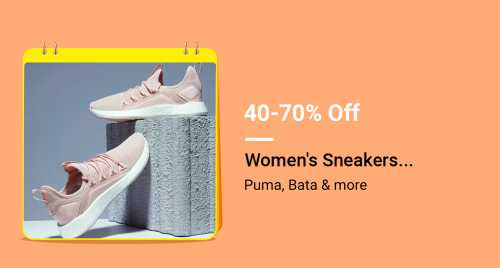 Flipkart Daily Deals & Discount Sale - Avail Up To 70% discount on Women's Sneakers