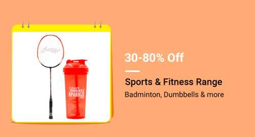 Flipkart Daily Deals & Discount Sale - Get Up To 80% Discount on Sports and Fitness