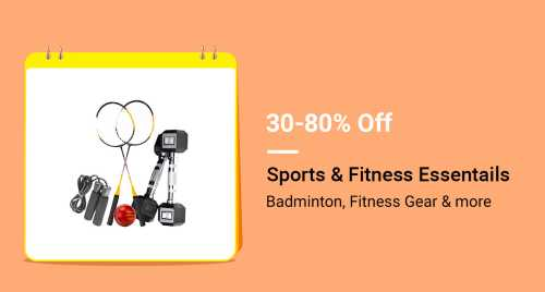 Flipkart Daily Deals & Discount Sale - Get Up to 80% off on Sports and Fitness Essentials