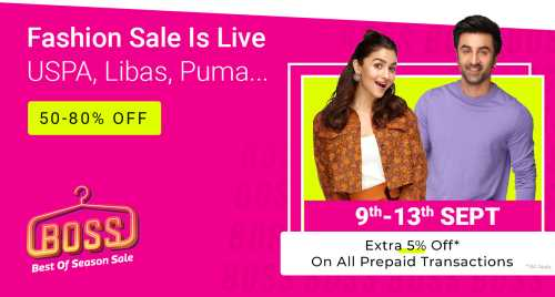 Flipkart Daily Deals & Discount Sale - Best Of Season Sale – Avail Upto 80% Discount on Fashion Wear